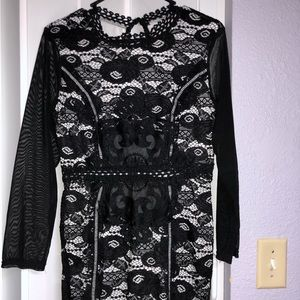 Dresses - Black Lace Dress